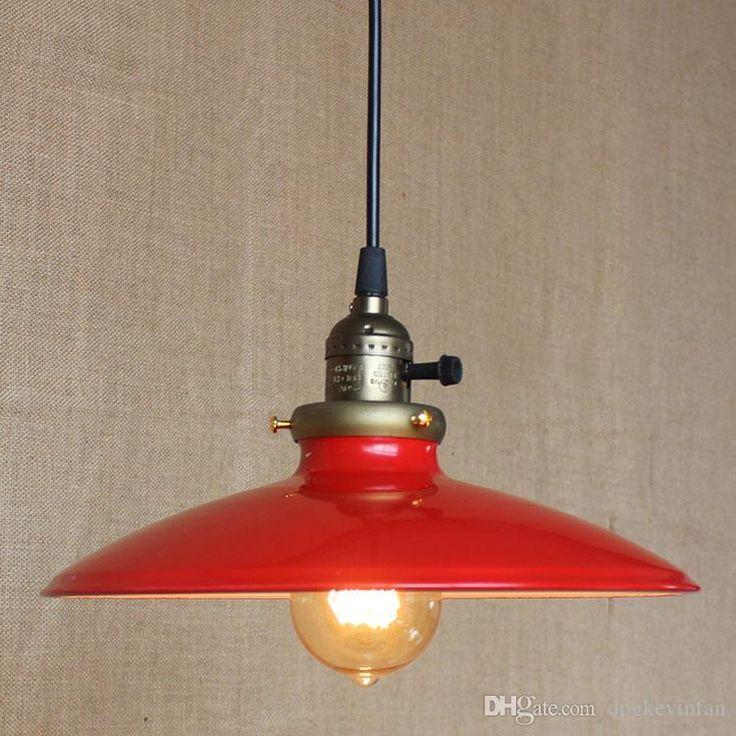 Nordic Retro Industrial Loft Edison Pendant Light Vintage Dia 250mm E27 Base Ikea Simple Lamp