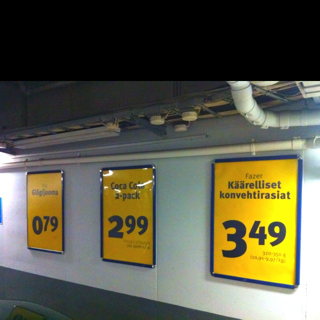 Point of Sale posters from finnish grocerie.