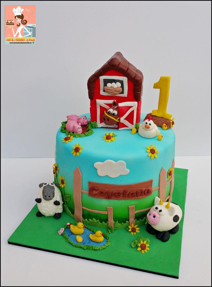tarta animales de la granja