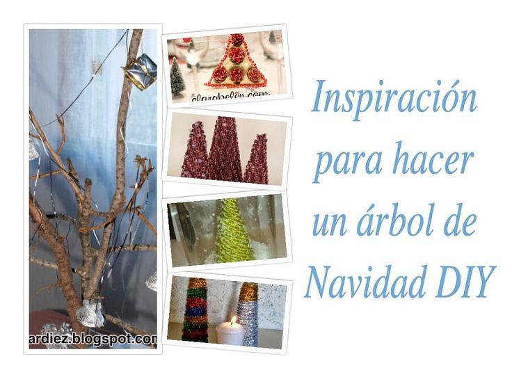 Inspiración para hacer un árbol de Navidad DIY