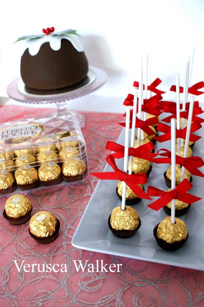 Quick cake poppy for Christmas with Ferrero Rocher.