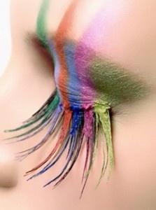 Ciglia multicolori