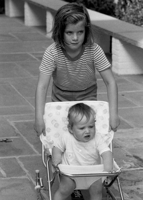Caroline Kennedy with her cousin Chris Kennedy, circa 1964.