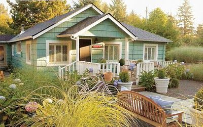 Cottage garden - there is just something about a porch.  I so would LOVE this place - on a flatter surface, and with a jeep-type car to get to market - yes, there will be a market!