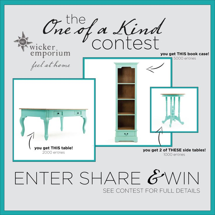 Enter our One of a Kind giveaway to be the ONLY person to own pieces of the Lunenburg Collection in tempting turquoise! These were samples that were ordered and this colour will not be reordered. Here is your one and only chance to own them! Draw on August 31, 2015.