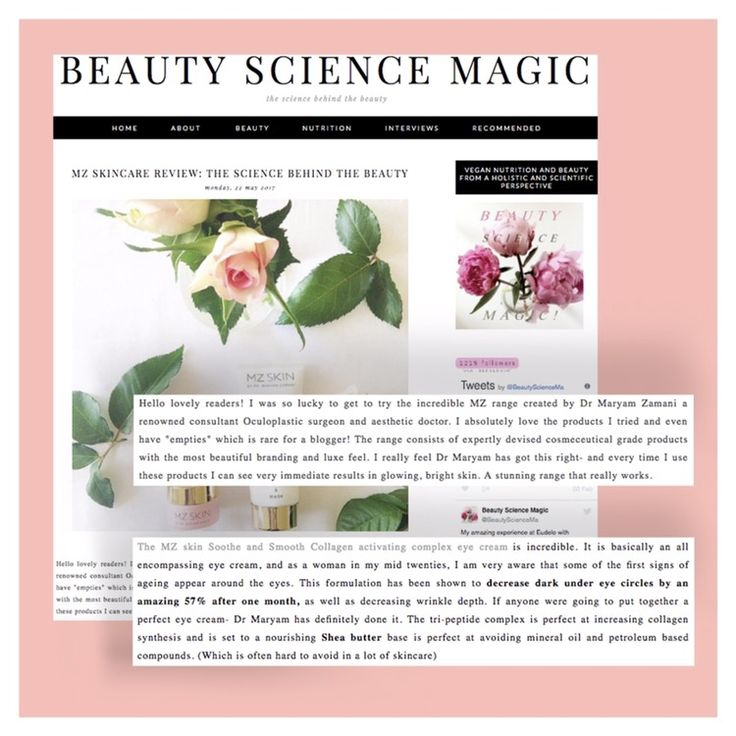 Thank you @beautysciencemagic for your fantastic review of MZ Skin's skincare range and the detailed science behind the beauty #beauty #science #blogger #skincare #glowingskin #cleanser #moisturiser #mzskin #drmaryamzamani