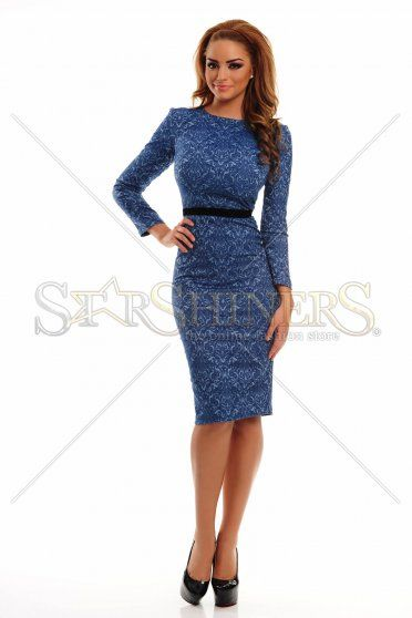 StarShinerS Baroque Long Blue Dress