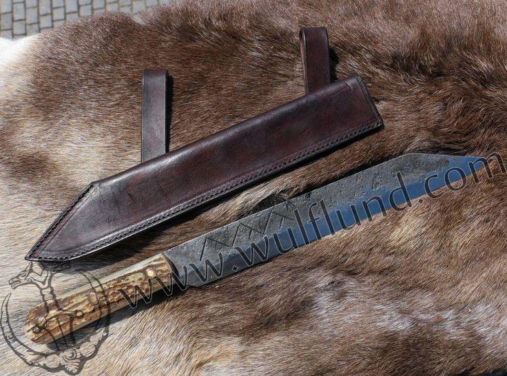 ULFHEDNAR, forged viking seax