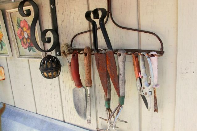 9 uses for a rusty old rake in the garden