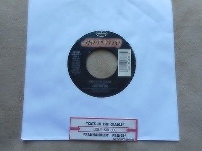 UGLY KID JOE CATS IN THE CRADLE 7 45 WITH JUKEBOX TITLE STRIP GREAT COVER