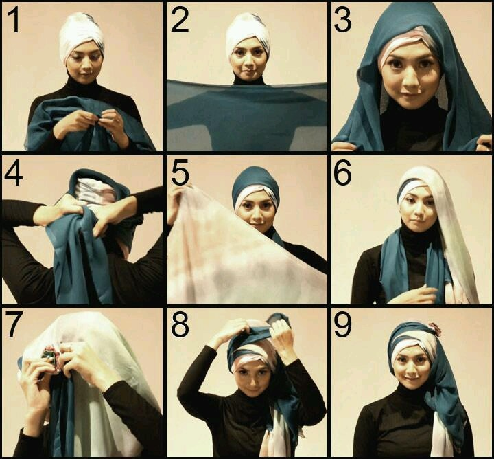 Stylish hijab tutorial from My Baju Muslim....