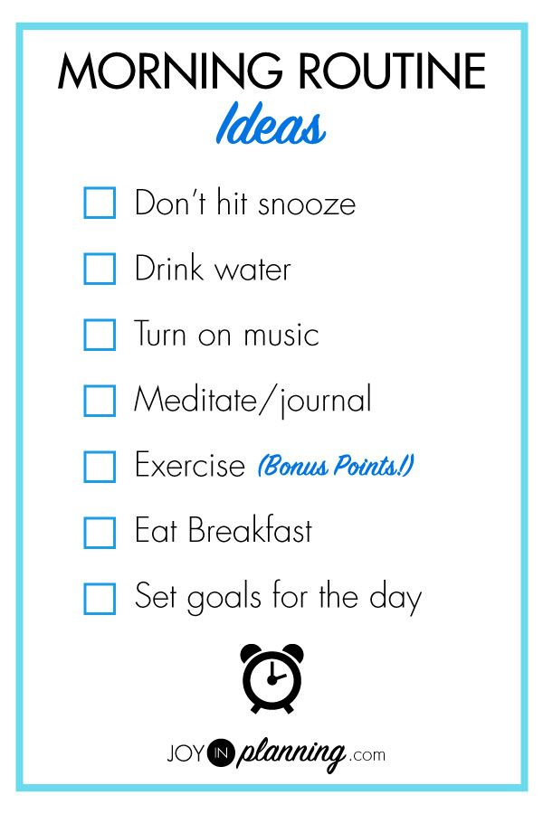 Creating a morning routine for a positive start