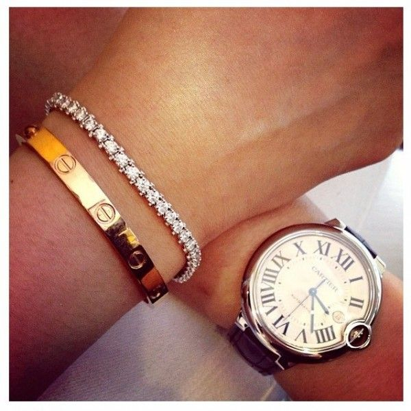 CARTIER love the love gold bracelet and Cartier watch Buy Cartier Love Bracelet on Sale! http://brandedjewelleryuk.com