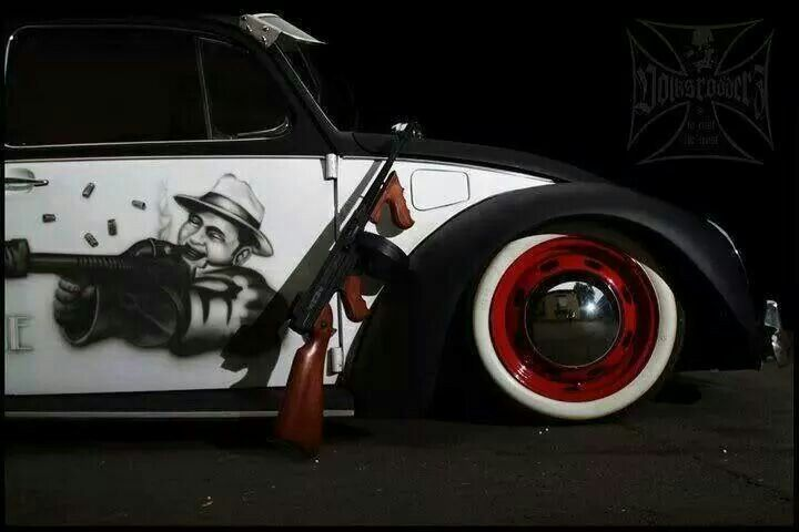 One of the cars that made me want an Old Volkswagen Bug! The AlCapone Bug!