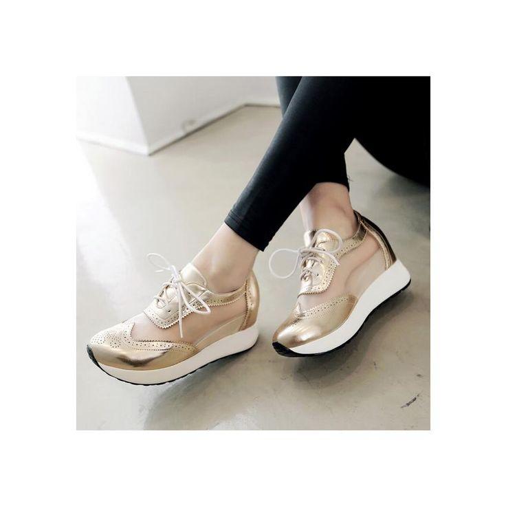 Compra Mujer zapatos Sandalias de plataforma estilo deportivo y comodo de color dorado online ✓ Encuentra los mejores productos Plataformas fashion-cool en Linio México ✓