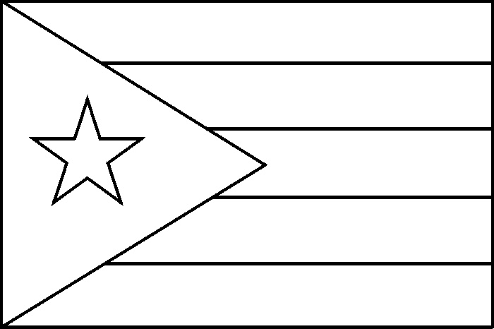 Coloring Picture Of Puerto Rico Flag Vbs And Summer Camp