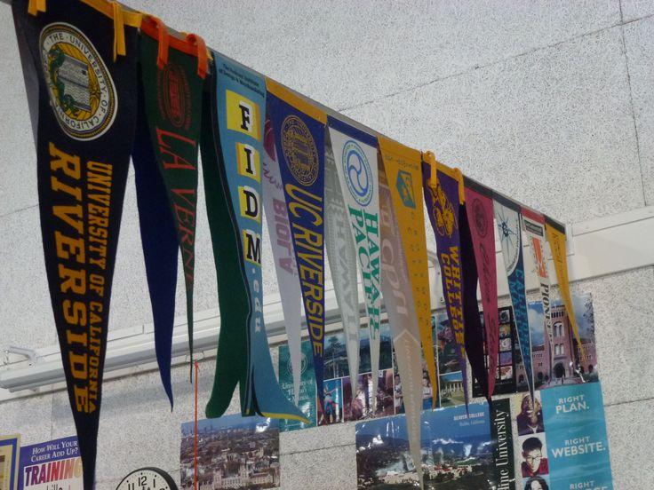 Hanging College Pennants Home Decor Ideas Pinterest