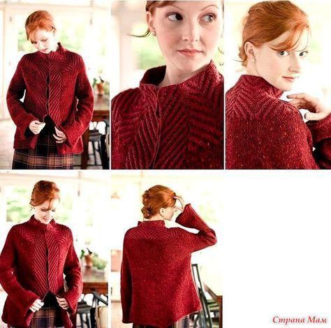 Нашла в свободном доступе перевод красивого жакета. Делюсь. Источник- http://www.knitter.crown6.org/