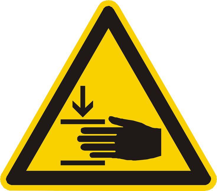 Hand Injury Warning Attention transparent image