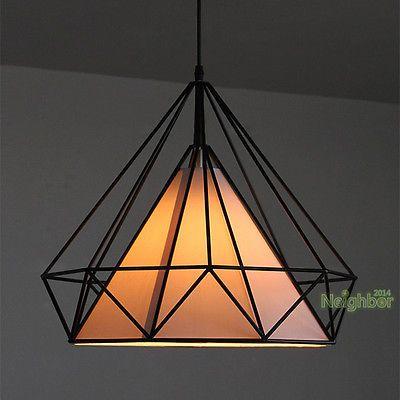 Ferro novo candelabro em forma de diamante Gaiola Lâmpada do teto Colgante Luz Iluminação   Casa e jardim, Abajures, luminárias e ventiladores de teto, Candelabros e lustres   eBay!
