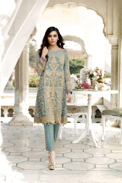 Orignal Pakistani Designer Latest Embroidered Chiffon Salwar Suit-Dress. Custom Order Bust Size 34-46 available. Shop Latest Sawlar Suit Fashion online in USA