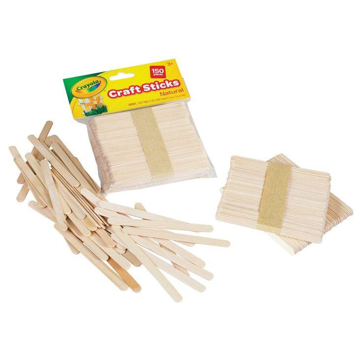 Crayola Craft Sticks 150ct Natural, Brown
