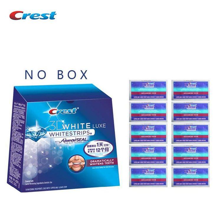 Crest 3D White Whitestrips ADVANCED VIVID Teeth Whitening Strips for 10 days dental tooth whitener 10/14/20 Treatments