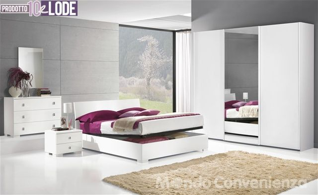 City camere da letto camere complete mondo for Cassettiera camera da letto mondo convenienza
