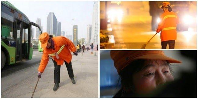 Yu Youzhen Miliarder Wanita, Penyapu Jalanan. Simak kisah Miliarder yang rela menjadi penyapu jalanan..