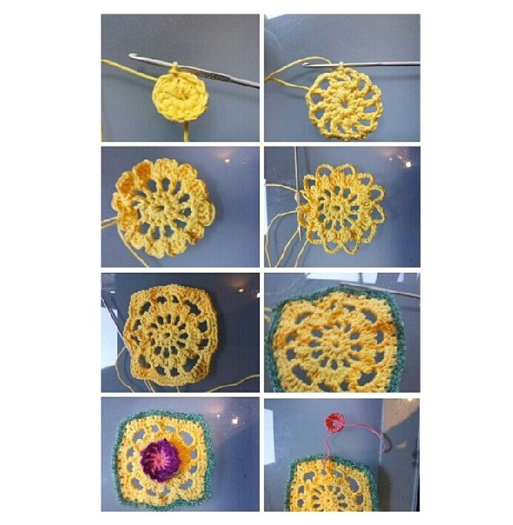 Life cycle of a granny square