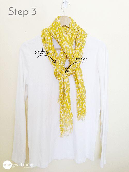 how to tie a European loop scarf