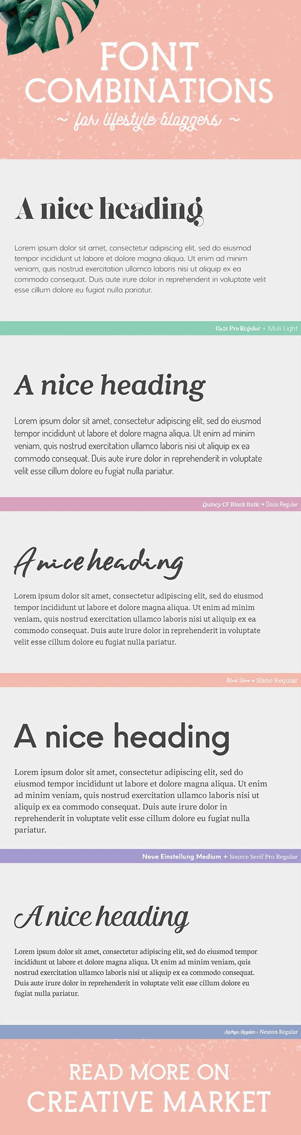 Your blog typography needs to convey the essential character of your site and your brand - but finding the right blogging fonts can be a challenge. Here's a rundown of 20 font combinations that are perfect for blog headlines and body text. All of these duos include a distinctive, premium font and a free font hosted by Google.