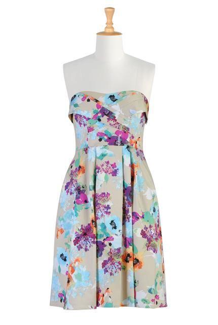 size 8 worn once - eshakti-womens-blossoming-strapless-dress.jpg (430×640)