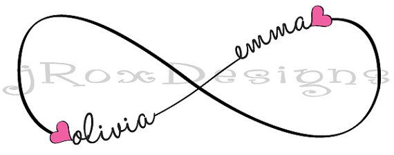 I have ever wanted a tatoo, but I like this! Custom Infinity Tattoo Design with Personalization by jRoxDesigns
