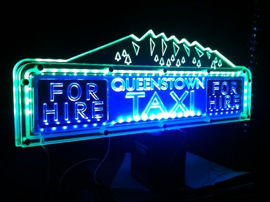 Laser Engraved Acrylic Taxi Toplights