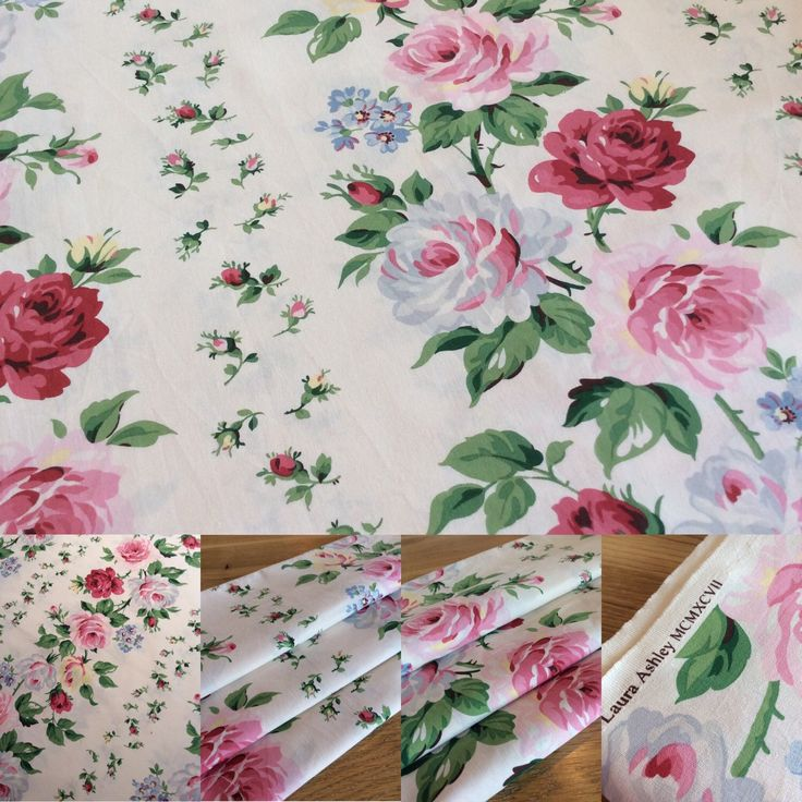Glorious vintage Laura Ashley Clarissa fabric available by the fat quarter in my Etsy shop. Xxx
