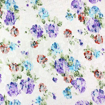 Stretch kant Flower 1 - Nylon - Elasthaan - lila