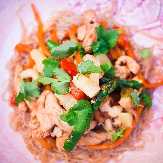 Cashew Chicken med nudlar - 56kilo - inspiration, hälsa och matglädje
