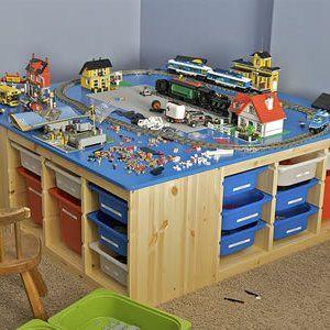 www.miaikea.com - Il tavolino dei #Lego super organizzato