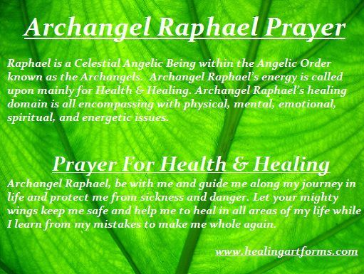 Archangel Raphael Prayer - Prayer for Health & Healing