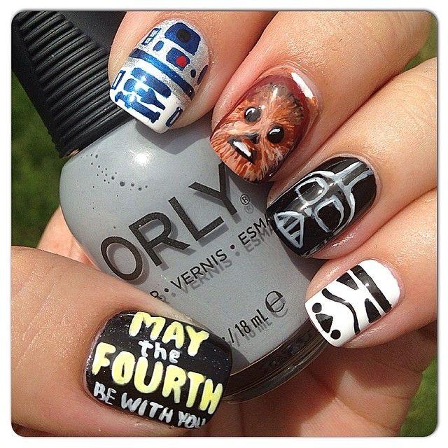Star Wars nail art by elaineqxoxo - Best 25+ Star Wars Nails Ideas Only On Pinterest Nail Art Diy