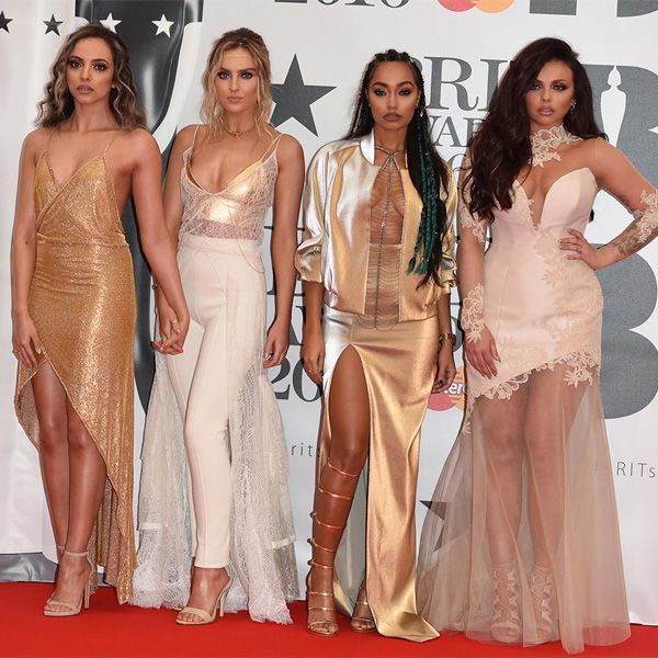 Little Mix no red carpet do Brit Awards 2016