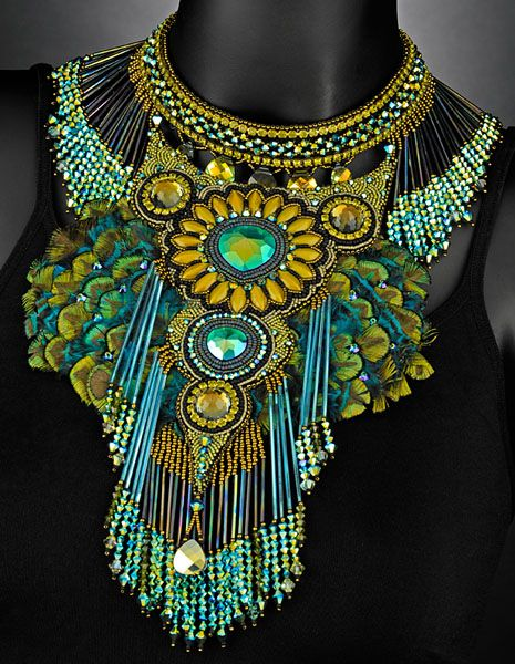 Award winning jewelry from Sherry Serafini. I can imagine this one with a peacock-colored dress.