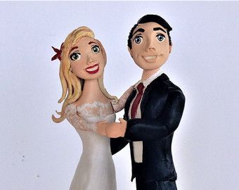 Wedding cake toppers for gay straight mixed by Laurinesfigurines