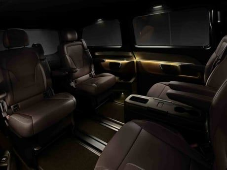 Image result for interior economy 7 seater van with automatic sliding door