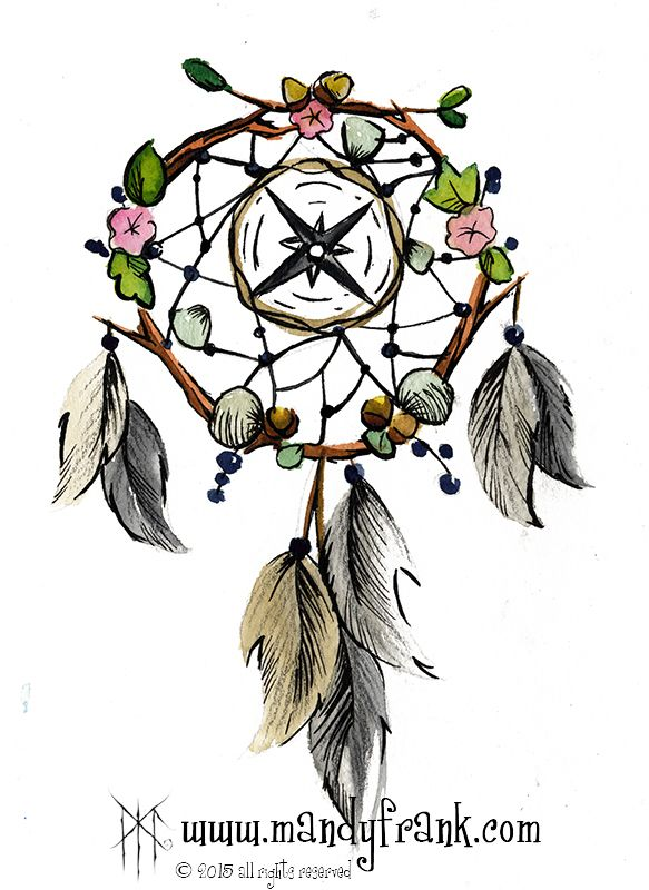 #dream_catcher #compass #watercolor #artwork #mandyfrank #illustration #hamburg2016