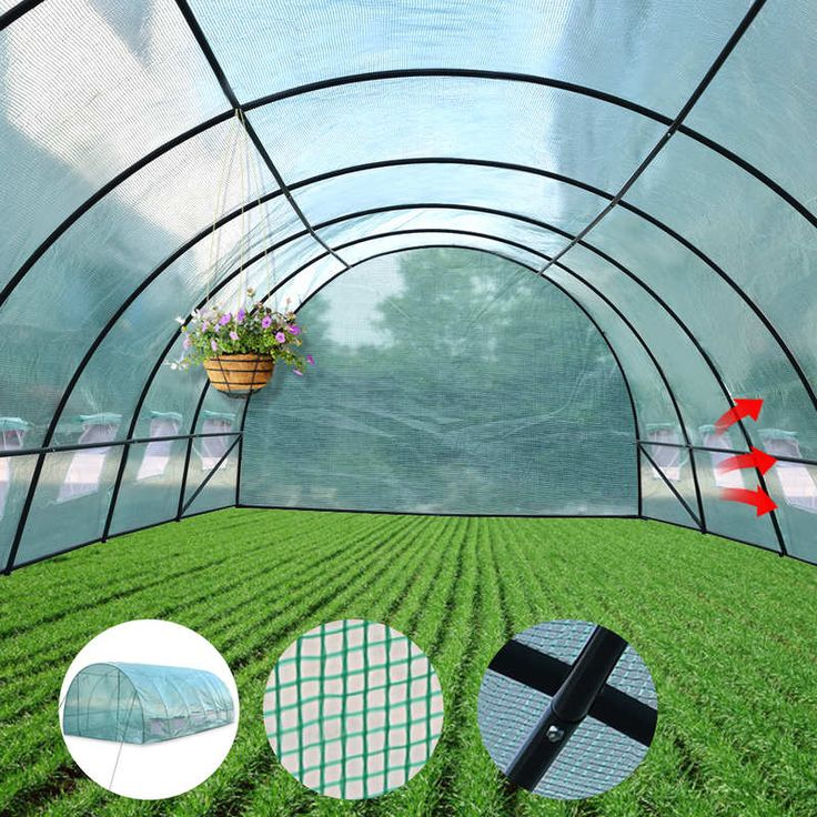 Walk In Garden Greenhouse with Arch PE Cover 3x6m | Buy Walk-In Greenhouses