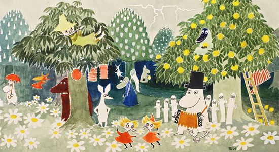 Moomin postcard A6 - from book Finn Family Moomintroll