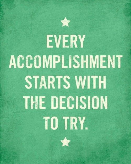 Charmant Every Accomplishment Start With The Decision To Try.***** Yes Thatu0027s How It  Started.