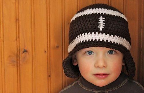 Free Crochet Baby Football Ear Flap Hat Pattern Free
